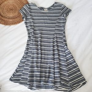 ZARA Girls striped dress 13/14 swing dress